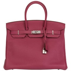 2012 Hermes Tosca Togo Leather Birkin 35cm