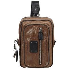 Chloe Brown Leather One Strap Shoulder Bag