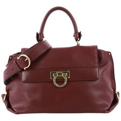 Salvatore Ferragamo Sofia Satchel Smooth Leather Medium