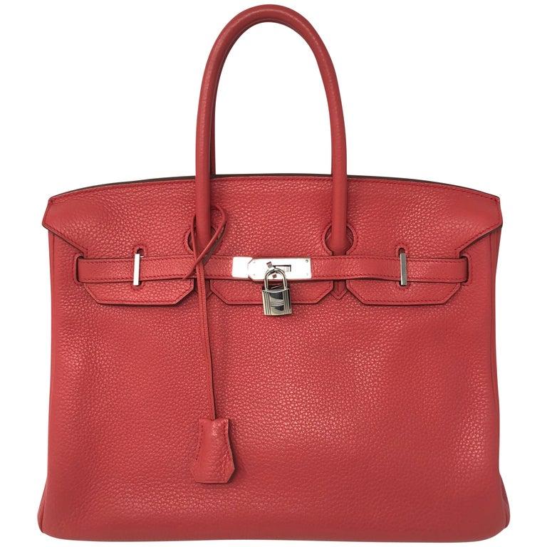93d32f3a07f Hermes Birkin 35 Bouganvillea Pink For Sale at 1stdibs