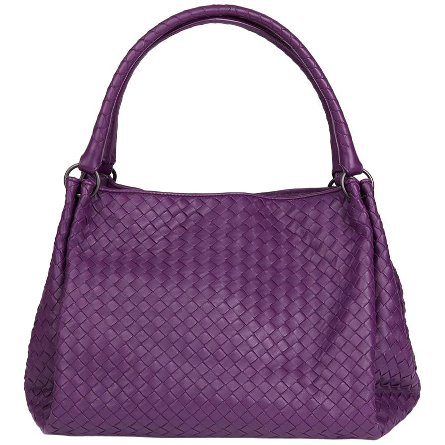 8bcbe8e928 2010 Bottega Veneta Corot Purple Woven Lambskin Parachute Bag at 1stdibs