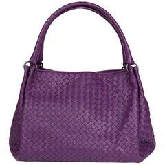 2010 Bottega Veneta Corot Purple Woven Lambskin Parachute Bag