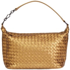 2010 Bottega Veneta Woven Metallic Grosgrain Calfskin Leather Small Shoulder Bag