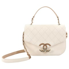 Chanel Thread Around Flap Bag Quilted Caviar Small