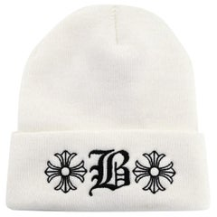 Chrome Hearts x Bella Hadid Limited Edition White Beanie Hat OS