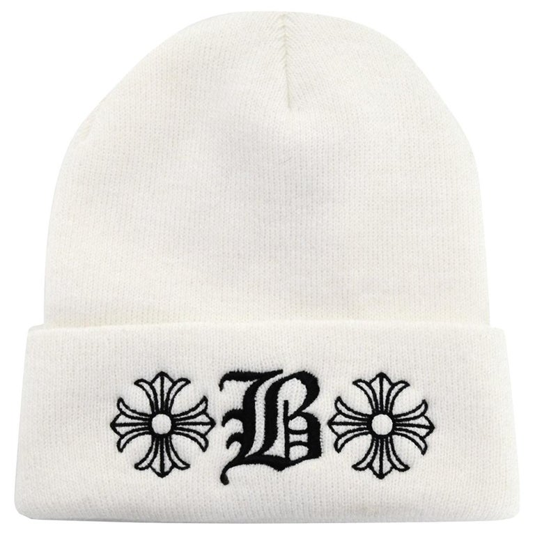6df799028cc Chrome Hearts x Bella Hadid Limited Edition White Beanie Hat OS For Sale