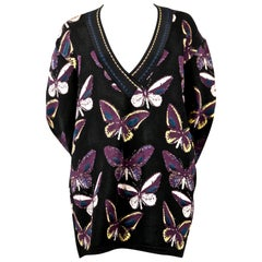 Azzedine Alaia runway tunic with butterfly motif, 1991