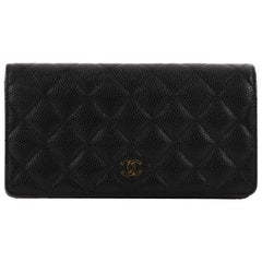 Chanel L-Yen Wallet Quilted Caviar