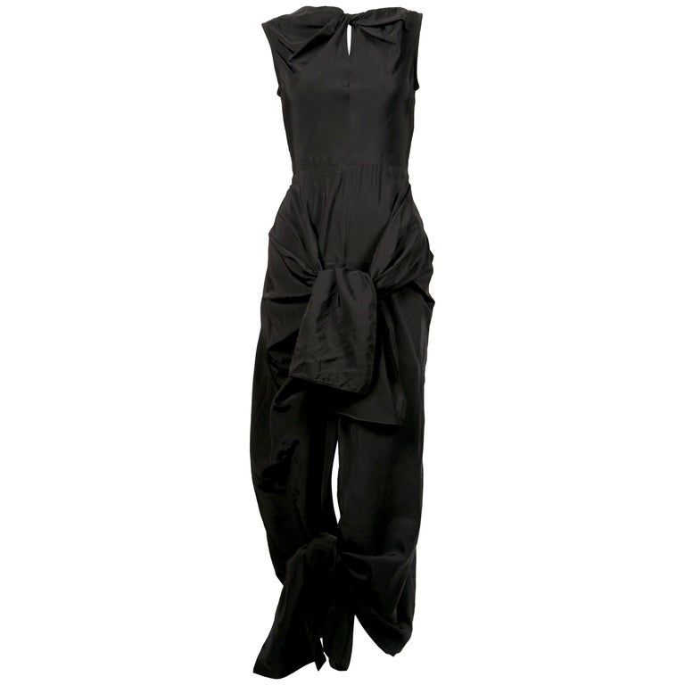 Celine By Phoebe Philo black dress with ties and cut out back