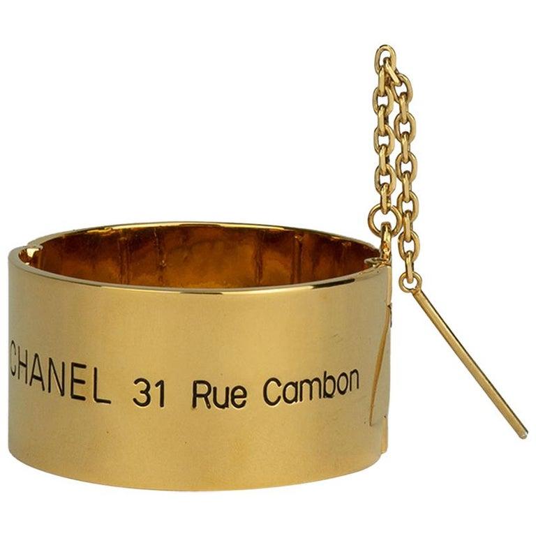 Chanel 31 Rue Cambon Cuff Bracelet For Sale