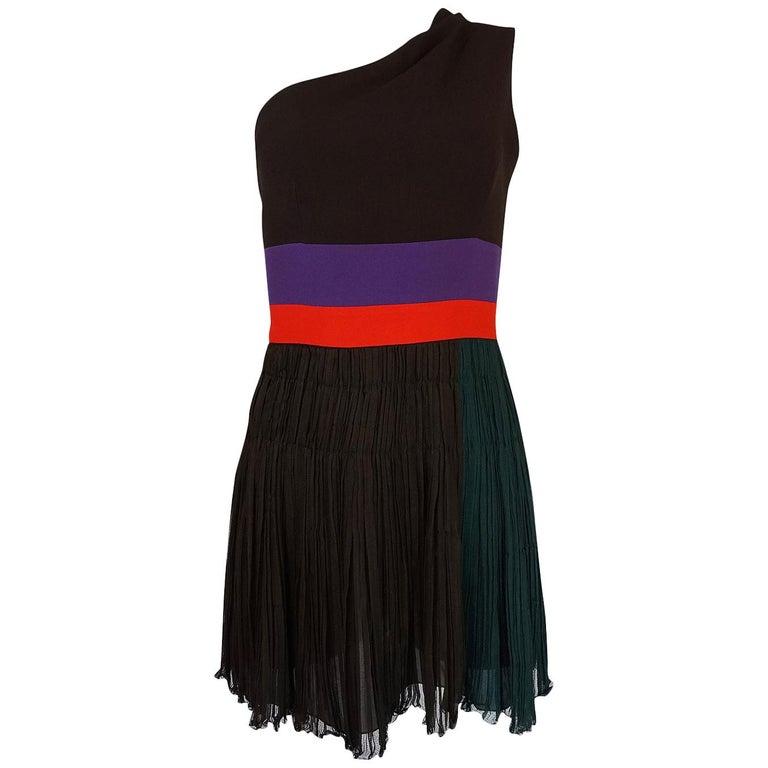 S/S 2005 Prada Runway Look 22 One Shoulder Color Block Dress