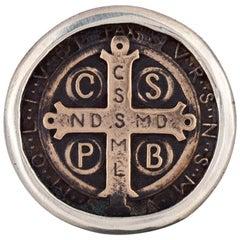 Saint Benedict Coin Ring