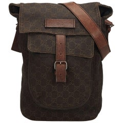 Gucci Brown Guccissima Cotton Crossbody Bag
