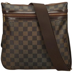 Louis Vuitton Brown Damier Ebene Pochette Bosphore
