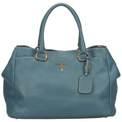Prada Blue Leather Handbag