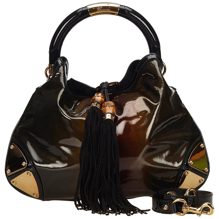 35754e7cfd33 Gucci Brown x Bronze x Black Large Babouska Indy Hobo For Sale at ...