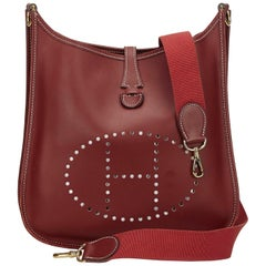 Hermes Brown Leather Evelyne PM