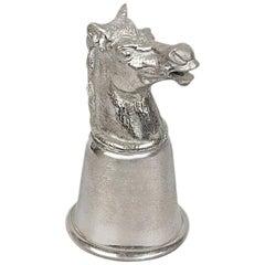 Gucci Vintage Silver Metal Horse Head Cup