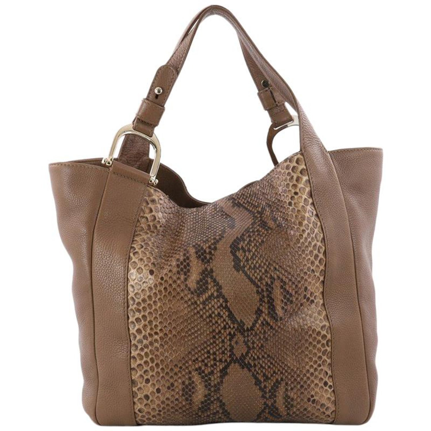 529d14a04aec Gucci Python And Leather Greenwich Tote at 1stdibs