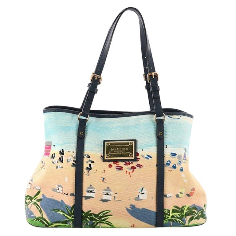 155c249f92191 Louis Vuitton Ailleurs Cabas Limited Edition Printed Canvas PM For Sale