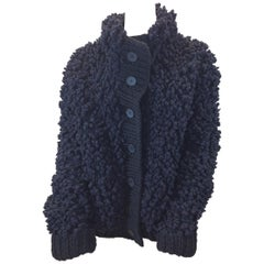 Maison Martin Margiela Black Wool Cardigan