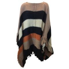 Sonia Rykiel Stripe Wool Cape