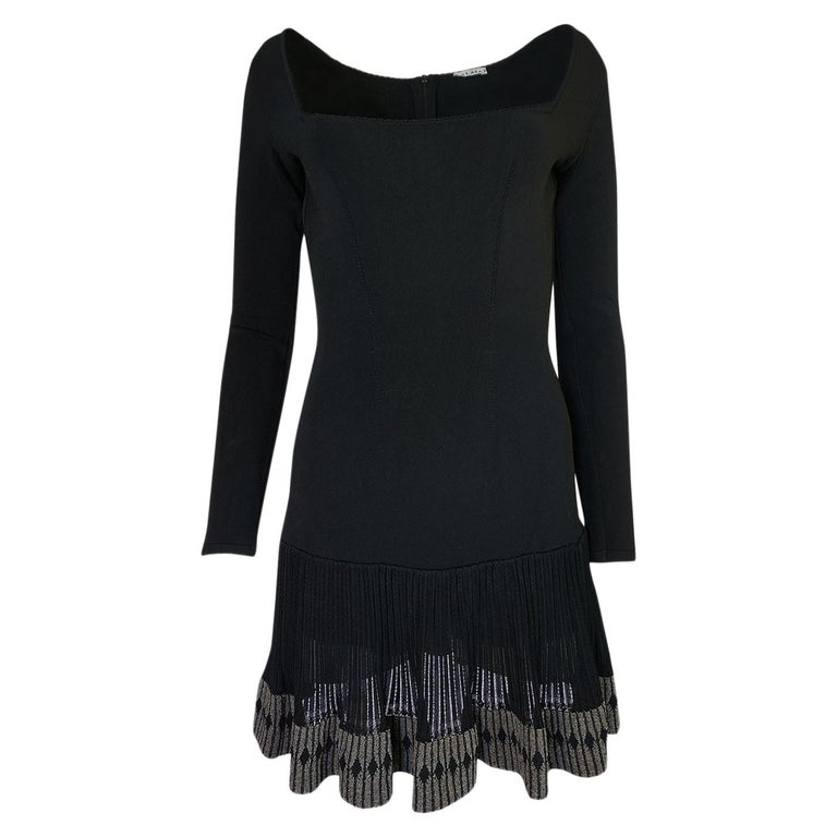 65a0f3de8d5 Azzedine Alaia Flared Skirt Mini Dress with Boy Short Interior ...