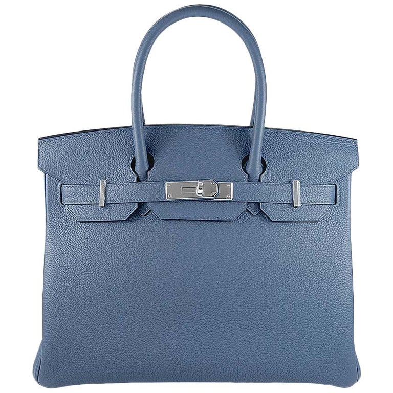 c89e69f11f Hermes 30cm Blue Brighton Birkin Bag For Sale at 1stdibs
