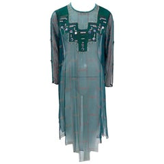 Zandra Rhodes Embellished Tunic Dress