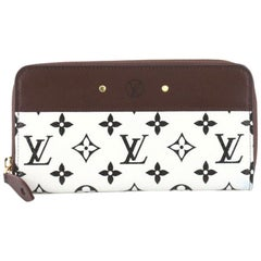 Louis Vuitton Zippy Wallet Monogram Canvas with Leather