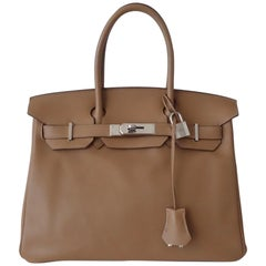 Hermès Swift Leather Biscuit Phw 30 cm Birkin Bag