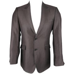 CoSTUME NATIONAL Regular Size 36 Cotton Blend Black Peak Lapel Sport Coat Jacket