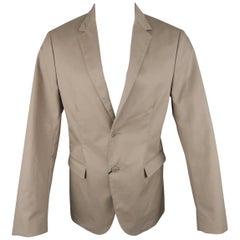 CALVIN KLEIN COLLECTION 38 Taupe Cotton Blend Notch Lapel Sport Coat Jacket