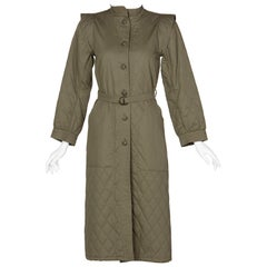 Yves Saint Laurent Russian Collection Quilted Trench Coat YSL 1976
