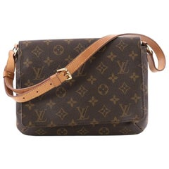 Louis Vuitton Musette Tango Handbag Monogram Canvas