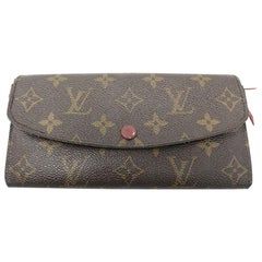 Louis Vuitton Emilie Rouge Monogram Wallet