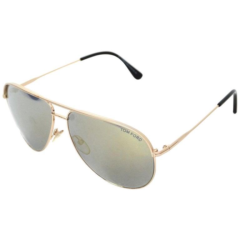 Tom Ford Gold Erin Mirrored Aviator Sunglasses rt. $390