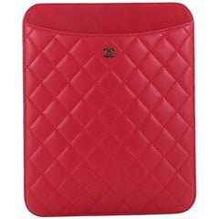 Chanel CC iPad Cover Quilted Lambskin