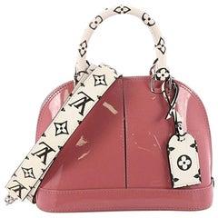 Louis Vuitton Alma Handbag Vernis with Monogram Canvas BB