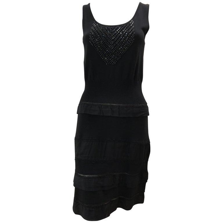 separation shoes b362f 2f0ca Philosophy Di Alberta Ferretti Cotton / Silk Black Embellished Dress