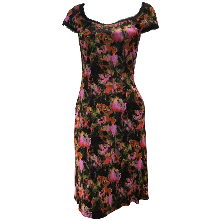 Zac Posen Floral Dress, 2010   For Sale