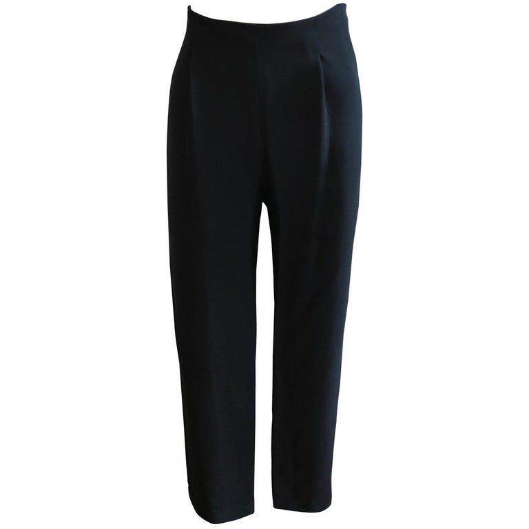 e82ce4275c03 Valentino High Waisted Black Wool Pants