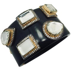 "Resin Mirror Statement Cuff - As worn by Kelly Rutherford in ""Gossip Girl"""