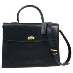 Coach Vintage Archive Leather 3 in 1 Top Handle Shoulder Crossbody Flap Bag