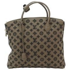 Louis Vuitton Brown Black Monogram Top Handle Satchel Carryall Tote Bag