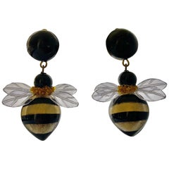 Bold Bumblebee Drop Earrings by Cilea Paris