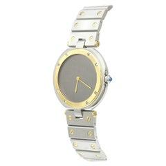 Cartier Stainless Steel 18kt Gold Two Tone Men's Women's Unisex Wrist Watch