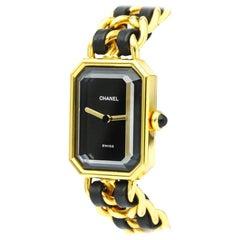 Chanel Ladies Stainless Steel Gold Tone Quartz Wristwatch