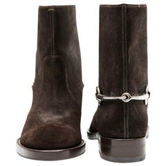 GUCCI Boots in Brown velvet Calfskin Size 39EU