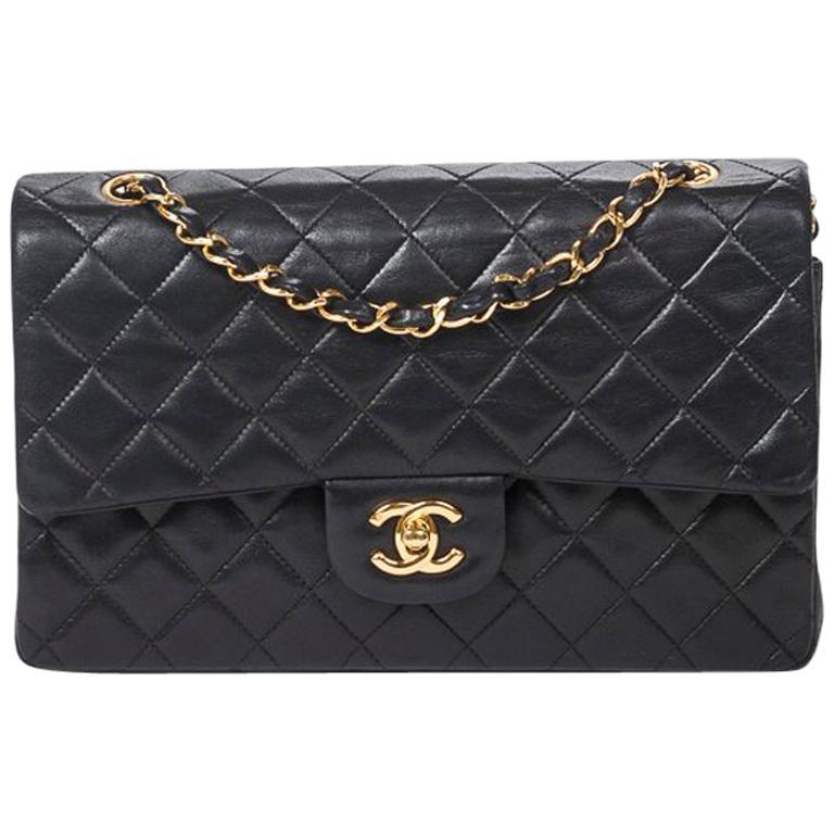 Chanel Black Caviar CC Logo Shoulder Bag at 1stdibs d30922d034